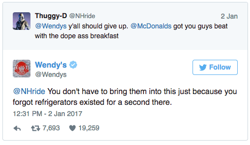 Wendy's Twitter Exchange
